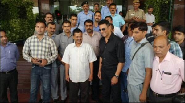 Akshay Kumar遇到了德里CM Arvind Kejriwal讨论农民的问题