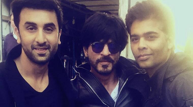 Shah Rukh Khan与Karan Johar,生日男孩Ranbir Kapoor套装上花了时间