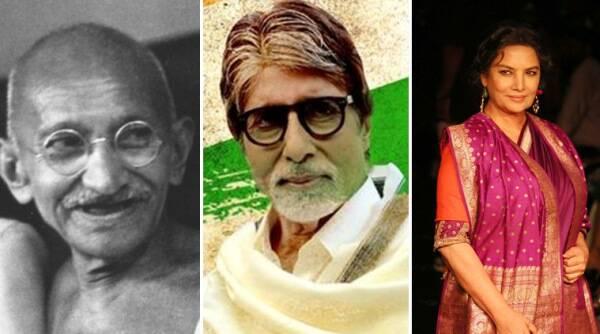 Gandhi Jayanti:Amitabh Bachchan,Shabana Azmi,Anupam Ther记住了国家的父亲