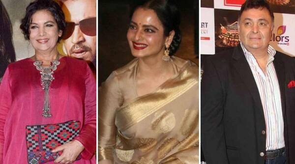 "Rishi Kapoor,Shabana Azmi希望""Ageless"",'鼓舞人心'rekha生日快乐"