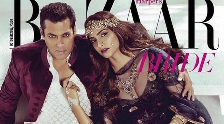 Salman Khan  -  Sonam Kapoor的烧焦杂志封面
