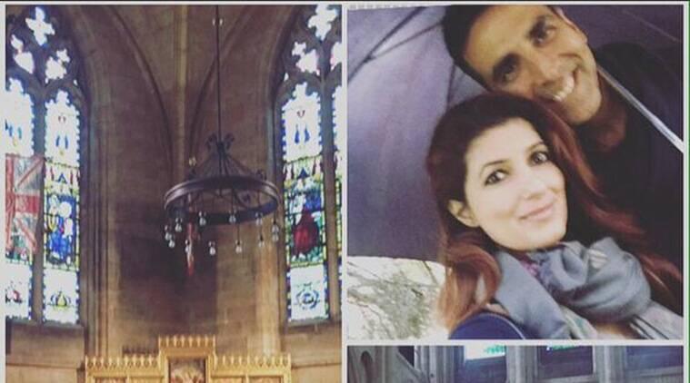 Akshay Kumar享受妻子在诺威奇的妻子闪烁的khanna,在Twitter上享用