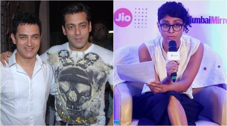"""基兰饶拒绝评论所谓的Aamir-Salman Spat;说将在""""八卦""""会议中讨论"""