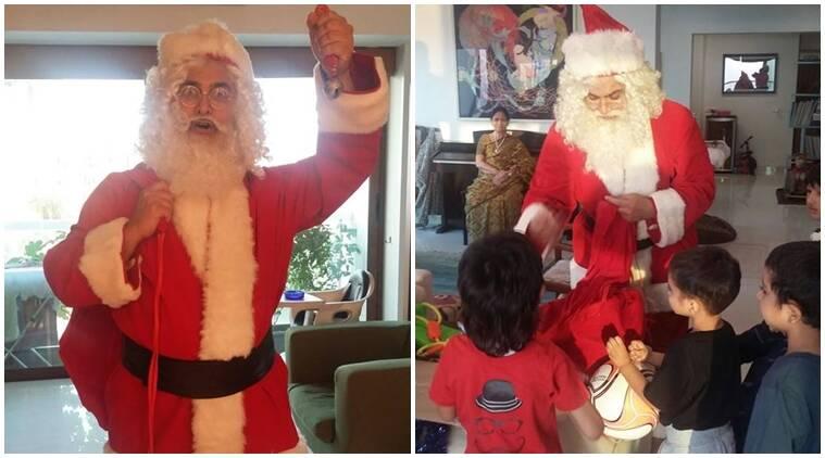 Aamir Khan在X-Mas上为孩子们转动了圣诞老人