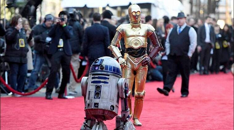 Celebs在'星球大战的首映式在线提供发光评论