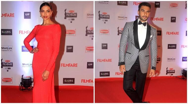 Ranveer Singh,Deepika Padukone在Filmfare Awards赢得大量