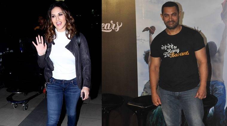 Sunny Leone在德里遇见Aamir Khan
