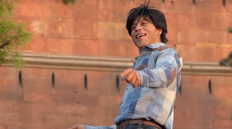 Shah Rukh Khan是一个充满活力的Jabra粉丝,在粉丝国歌,看歌曲