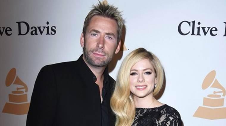 Avril Lavigne,Chad Kroeger在Pre-Grammy Party展示了感情