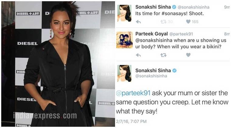 Sonakshi Sinha的愤怒推文在粉丝询问她什么时候展示你的曲线