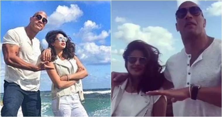Priyanka Chopra开始拍摄Baywatch与Dwayne'The Rock'Jownson