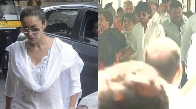 Shah Rukh Khan的岳父过去了,演员参加德里的火葬